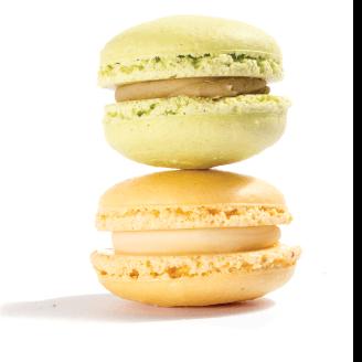 Αυθεντικά γαλλικά macaron με λεμόνι