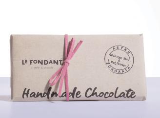 Λευκή σοκολάτα Μαστίχα Χίου & Ροζ Πιπέρι, 80γ